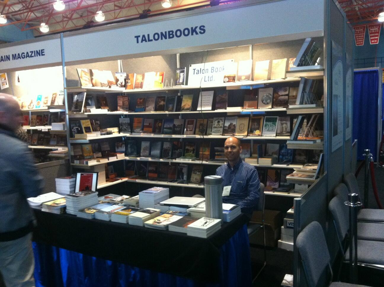 [image: the Talonbooks booth at Congress 2013]