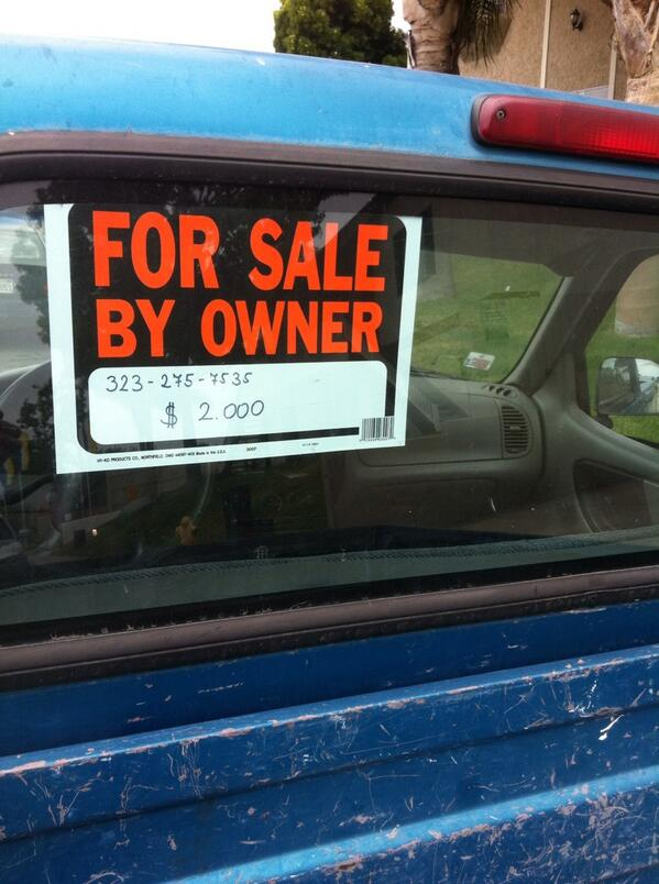 Sale by owner signs