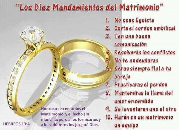 Matrimonio Segun La Biblia Cristiana : Jorgeenriquemújicalc on twitter quot mandamientos del