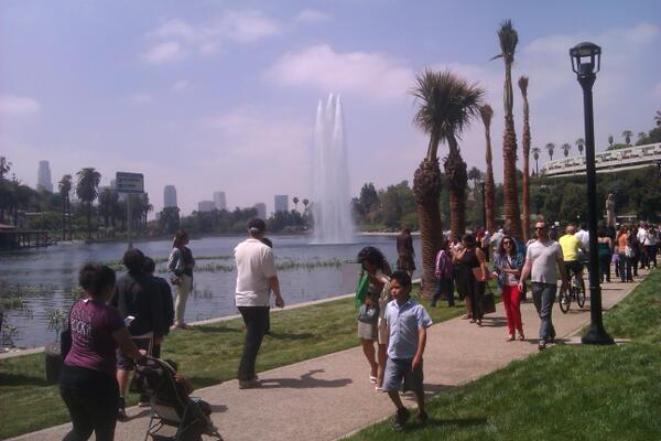The iconic #EchoPark waterfall pic.twitter.com/bBZ4uZimCQ