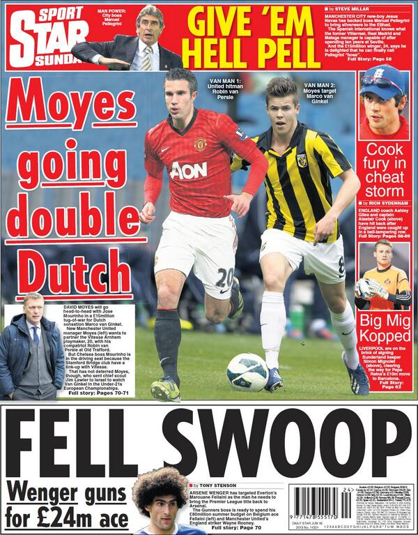 Forget Strootman! Man United to challenge Chelsea for Marco van Ginkel [Star & Express]