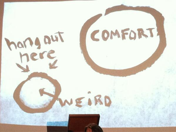 Hang outside your comfort zone. @uncleweed pic.twitter.com/SLLJ4g72E1 via @erin_anne #nv13