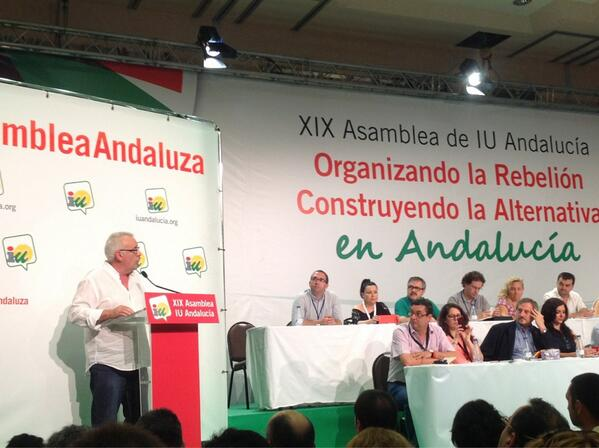 .@cayo_lara recuerda las huelgas generales, en las que ha participado activamente Izquierda Unida. #AsambleaAndaluza pic.twitter.com/16yMVmYbZz