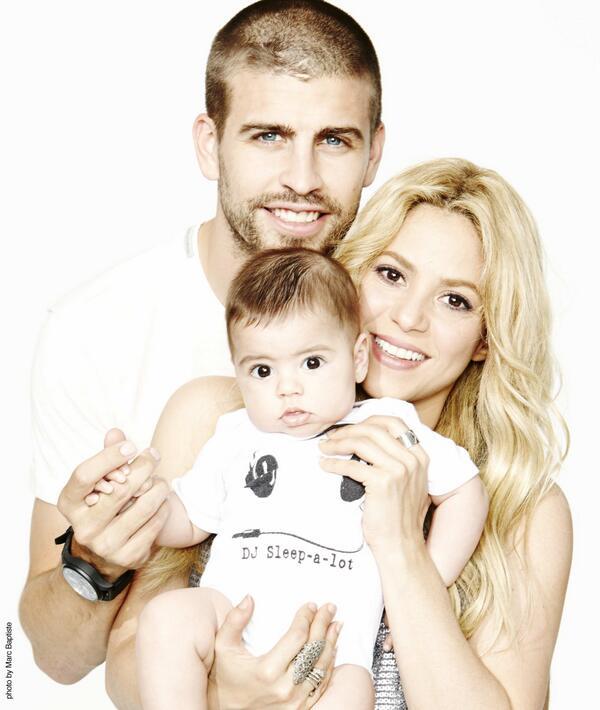 Shakiraand Pique plus Baby Milan