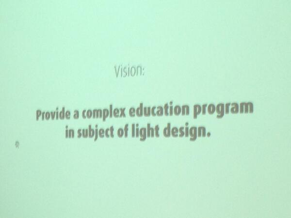 Jan ptacin and his #light vision #lightedu @erco_lighting pic.twitter.com/0NscdVLbZf