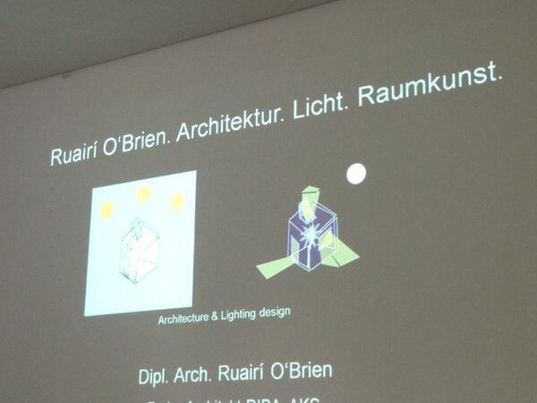 Ruairi O'Brien: light coming in space at daytime and out at night #lightedu @erco_lighting pic.twitter.com/cMXjT53cCn