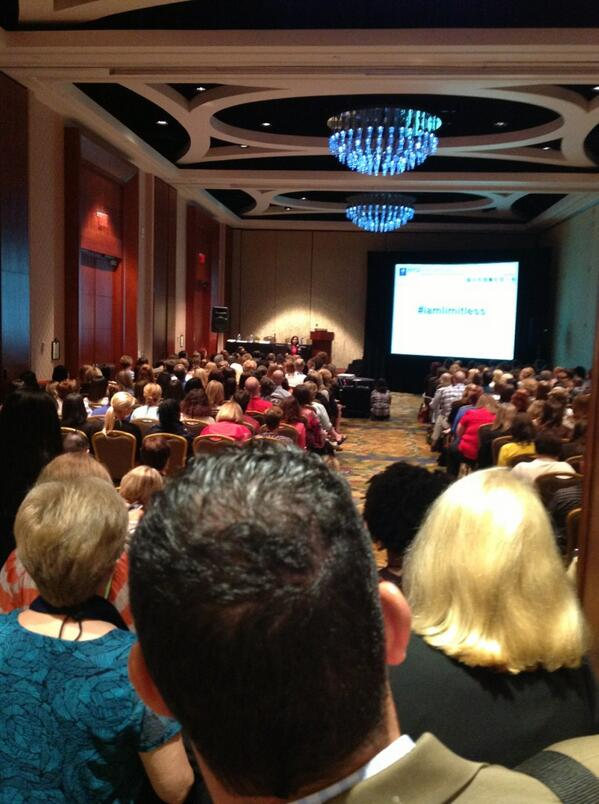 "#IAmLimitless impressive ""line out the door"" audience today at #NACE13! pic.twitter.com/Wh9peGPiq4"