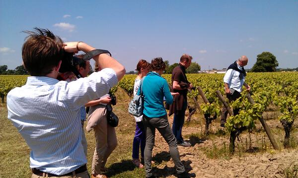 Wine bloggers are let loose in a vineyard ;) #muscadettrip  @sallyeastonmw @wineguroo @RichardHemming @chris_kissack pic.twitter.com/gMm13FOcow