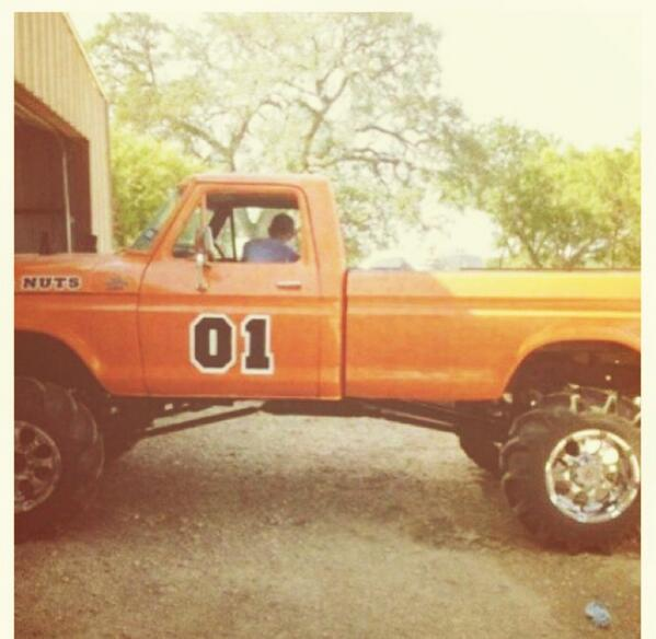 "Big Tires & Bonfires on Twitter: ""General Lee truck #yes # ..."