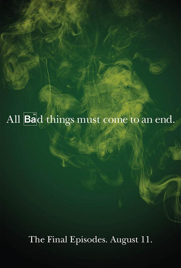 Breaking bad on twitter all bad things must come to an end breakingbadamc all bad things must come to an end breakingbad picitterel6tqa7xwx matthiasld voltagebd Choice Image