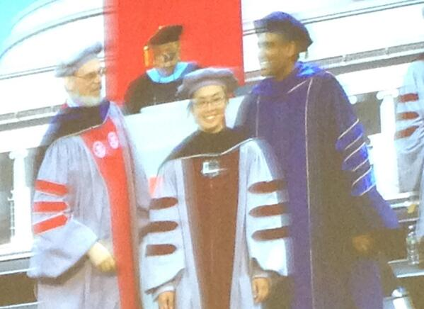 Photo of my @mit doctoral hooding (taken by Dr. Joyce). #radish pic.twitter.com/iQoGzarJzQ