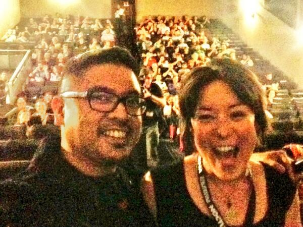Taking a selfie with @AnnaIshida with the audience before @iamaghostfilm starts at @Nocturnafest. Amazing audience. http://t.co/eNAAB5o0zh