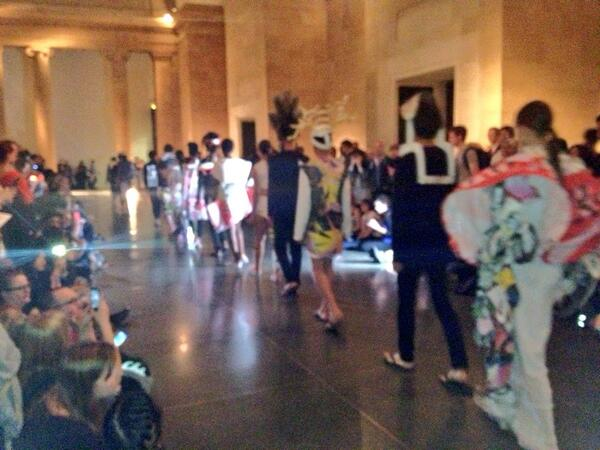 The catwalk show has begun! Tweet is your snaps if you're here #LateatTate pic.twitter.com/fjOzIjsejU