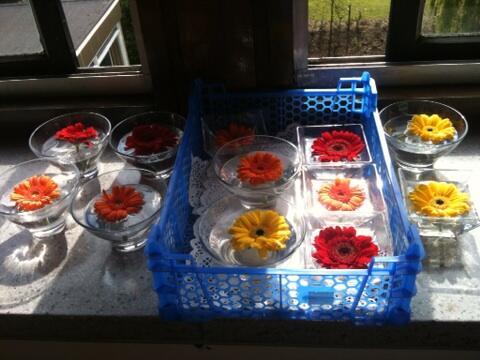 Pretty flowers ready for #UoBreunion lunches pic.twitter.com/kz6kxowz26