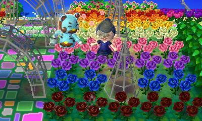 あつ森 オシャレな花壇