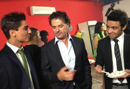 محمد عساف وأجمد جمال ضمن إحتفال عيد السوبر ستار #راغب_علامة يشاركونه أطراف الحديث #Palestine #Egypt #ArabIdol #Talent pic.twitter.com/i2D9bhJPxm