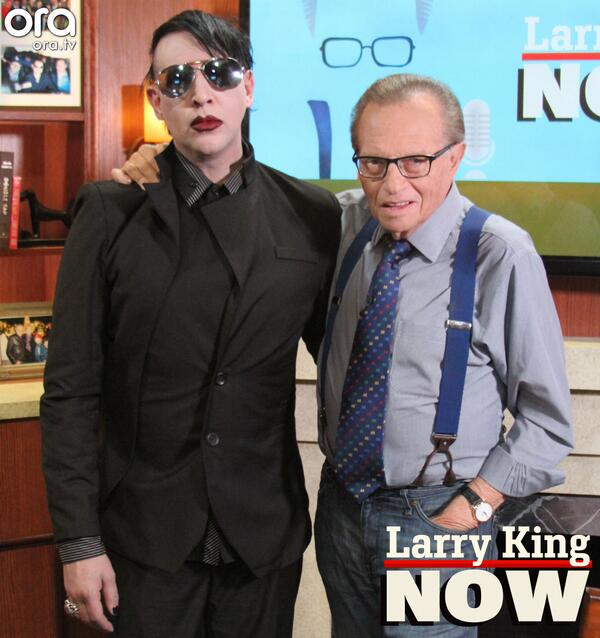 Marilyn Manson im Interview bei 'Larry King NOW'