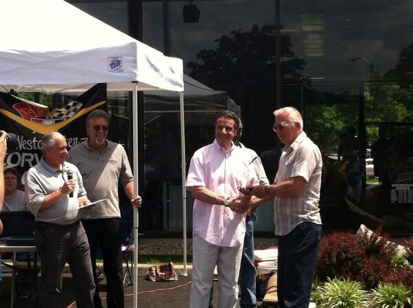 Andrew Cuomo On Twitter PHOTO Gov Cuomo Presents First Place - Arroway chevrolet car show