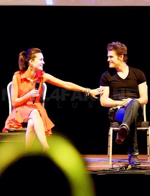 Torrey DeVitto and Paul Wesley - Magazine cover