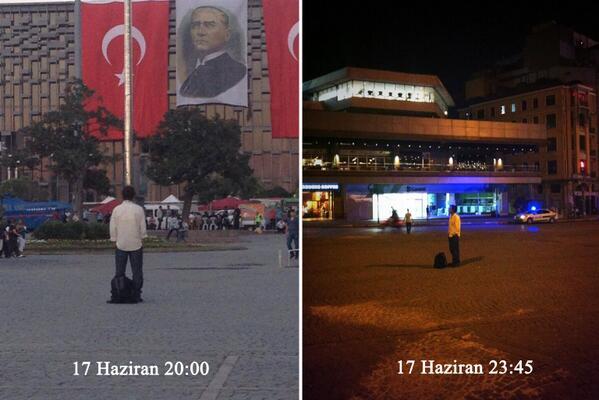 Протестующие в Турции устроили неподвижную демонстрацию