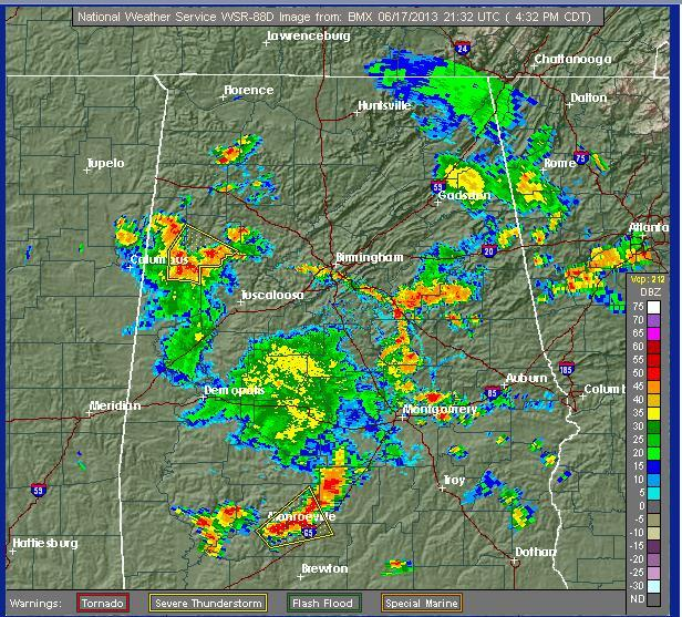 Twitter / nvyoung: The radar for Central Alabama ...