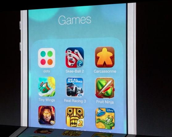 Carcassonne just had a cameo in Apple's iOS 7 presentation! So happy. http://pic.twitter.com/dRSJTzYRGJ