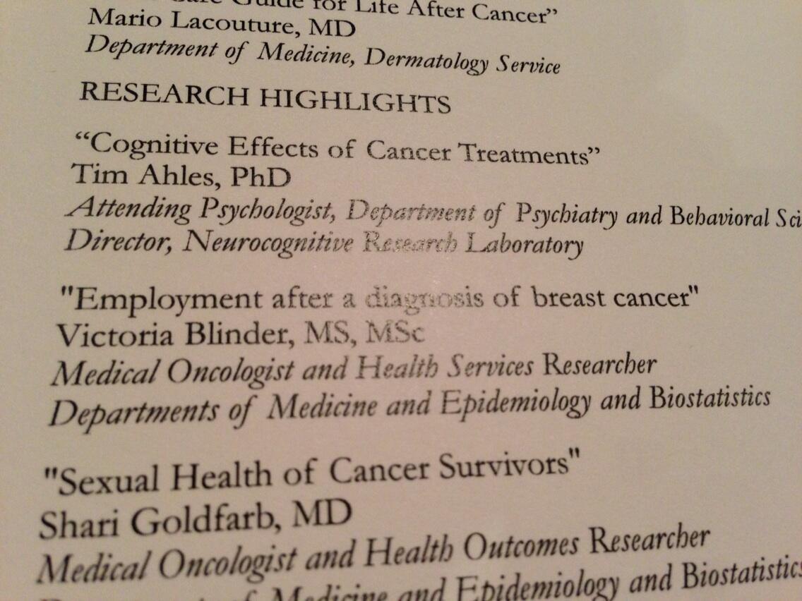Twitter / chemobrainfog: At survivor event ...