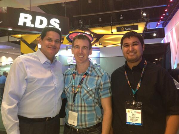 President of Nintendo of America, Reggie File-Aime, and Paul Gale Network at E3 2013
