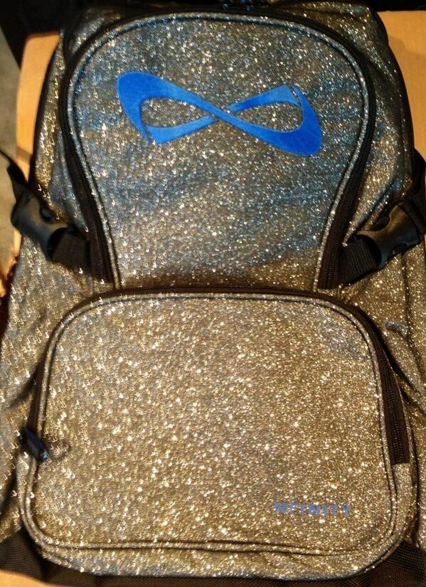 bedazzled mom stuff sparkle with backpack bedazzles pinterest cheerleading nfinity pin cheer infinity backpacks