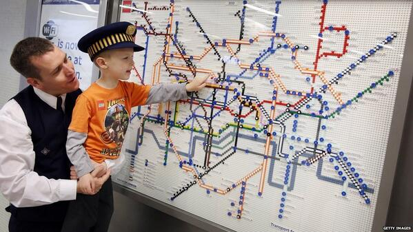 Tube maps are made from Lego as part of the Underground's 150th anniversary celebrations http://t.co/Ex1YmHakzF