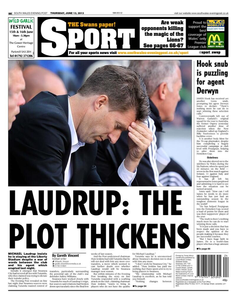 Laudrup is staying at Swansea despite agent axe, Barcelona eye Chelseas Loftus Cheek & Liverpool linked to Piazon & Mignolet