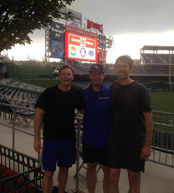 Storms a brewin' at @Nationals Park for today's #congressionalbaseball game  w/ Reps. @RepBetoORourke & @RepMurphyFL pic.twitter.com/kozXNLplqW