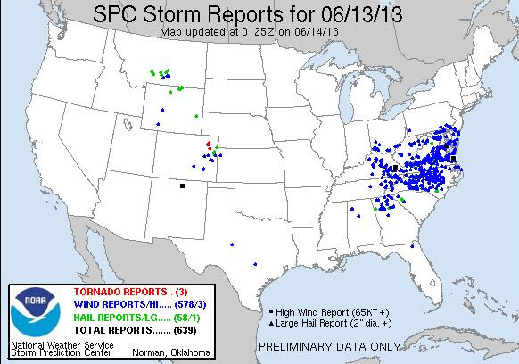 Twitter / stormchaser4850: Update: Nearly 600 damaging ...
