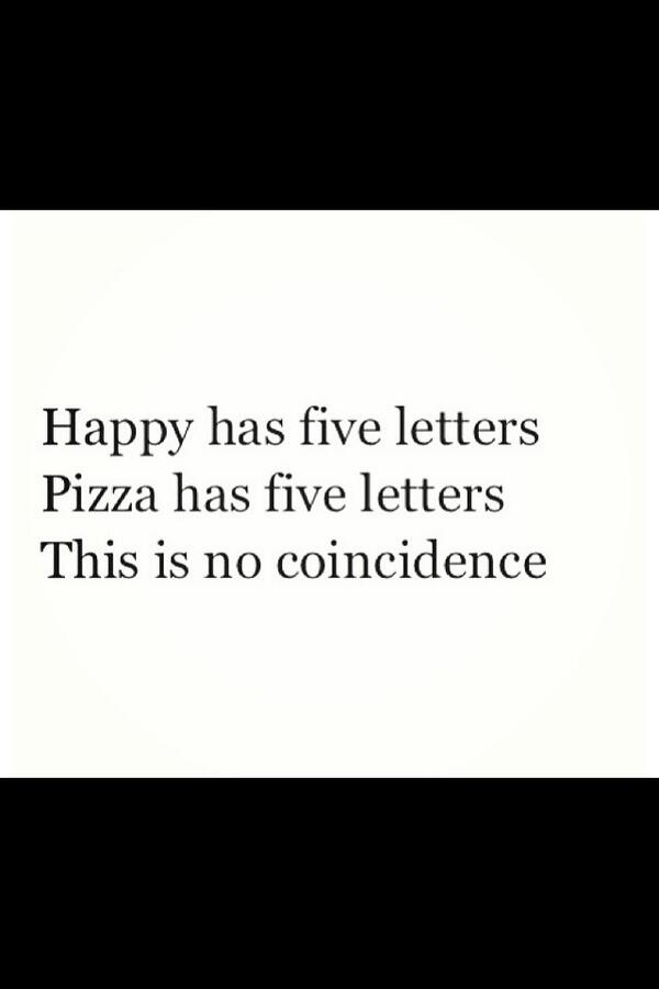 """@KenzieAlysse: Coincidence? I think not. <br>http://pic.twitter.com/ZN8Inzf4CE""  #THIS #pizzaishappiness"