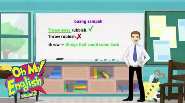 Oh My English On Twitter When You D Like To Say Buang Sampah In English You Should Say Throw Away Rubbish Because Throw Something Means Http T Co 6kkw2nan97