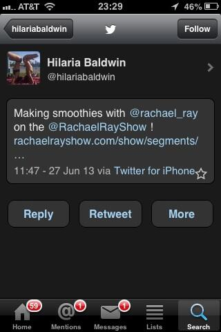 Daily Mail might owe @HilariaBaldwin an apology. The smoothie tweet they say was at 847am was actually 1147am pic.twitter.com/kF4HHXIMey