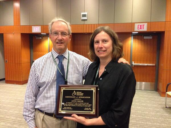 Our VP honored for 15 yrs of service as NPCA staff. #pccbos #rpcvchat pic.twitter.com/0QHMEhEVoJ