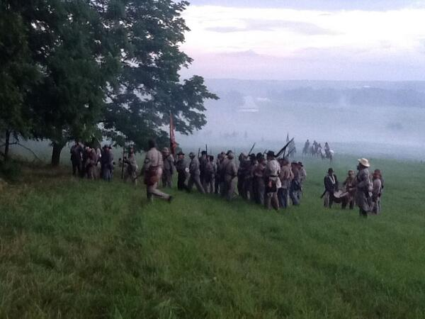 The retreat. #gburg150 #cw150 pic.twitter.com/H6XUvR26uM