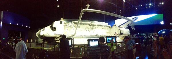 Panoramic shot of #shuttleatlantis @explorespaceksc pic.twitter.com/198W34VA0K