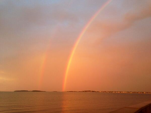 Thumbnail for Double rainbows in Boston!