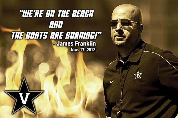The Boats are Burning...@jamesfranklinvu @thenewVUgattis @vucommodores @MiamiDore @michaelhazel @brandonbarca pic.twitter.com/0qmOE4xKwx