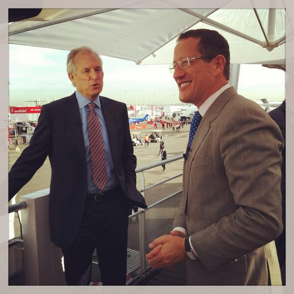 @richardquest interviewing Jim McNerney, president and CEO of #Boeing. Watch cnni at 8pCET for full interview. #PAS pic.twitter.com/MM6G0aezLj