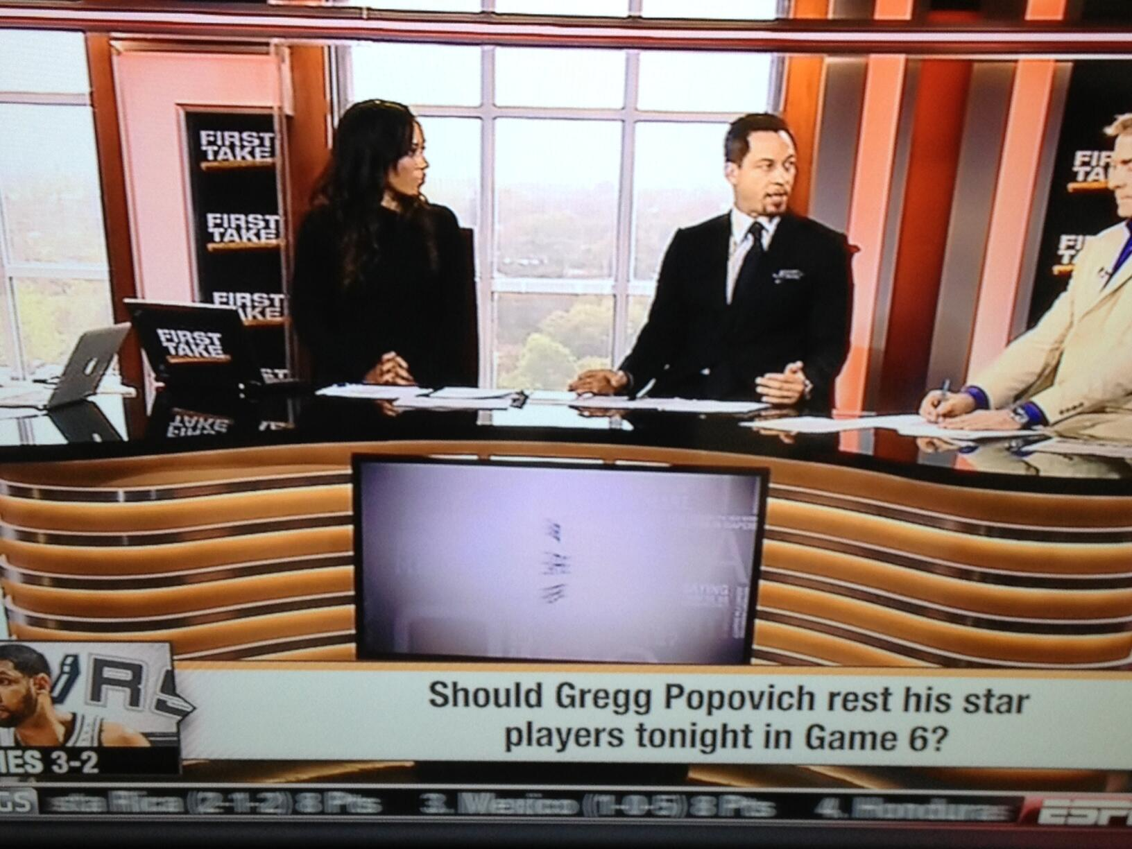 ESPNs First Take Asks: Should Gregg Popovich Rest His Stars In Game 6?