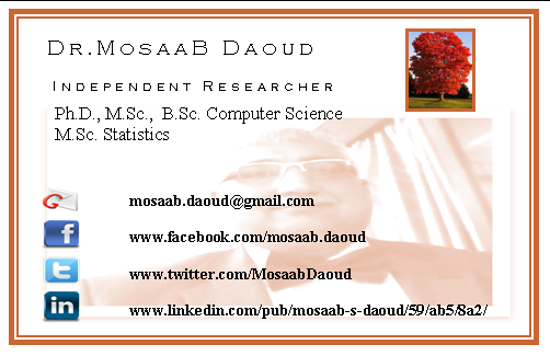 Business cards with facebook and twitter image collections card mosaab daoud on twitter my business card june 18th 2013 mosaab daoud on twitter my business colourmoves