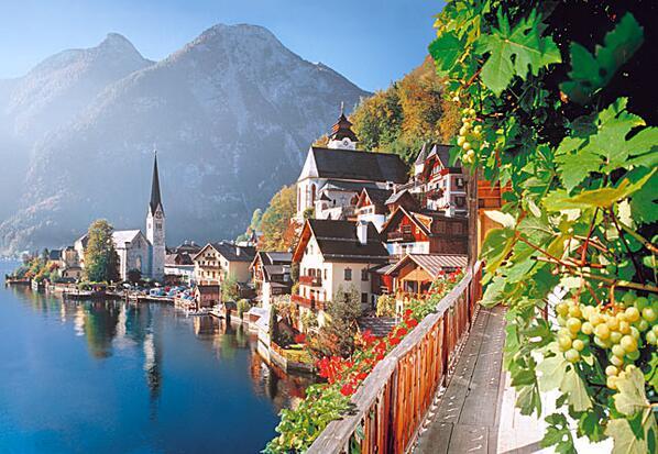 """美しい風景 on Twitter: """"ハルシュタット(世界一美しい湖岸の街と言 ..."""