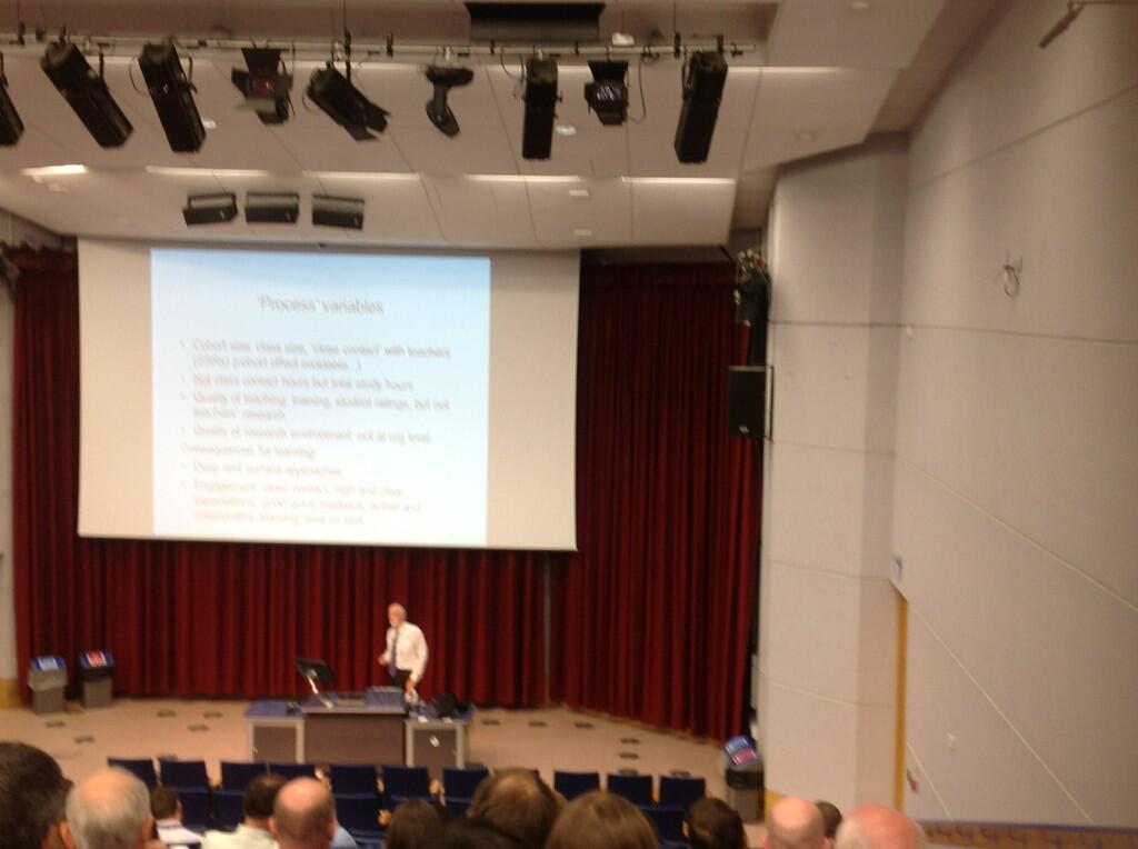 Twitter / suebecks: Keynote Professor Graham Gibbs: ...