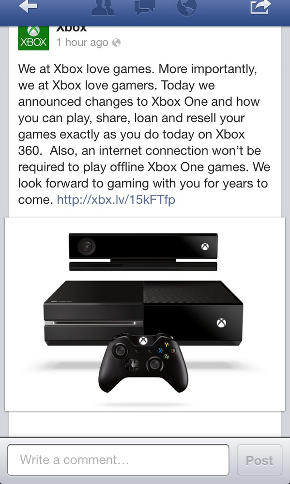 Good New :') #XboxOne http://t.co/XK7bxjdohB