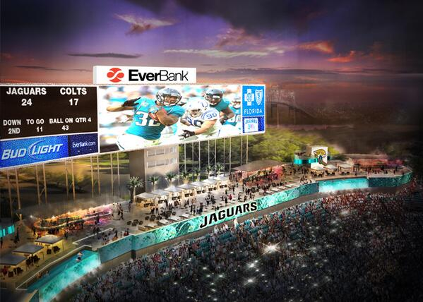 In addition to cabanas and pools, EverBank Stadium will have upgraded wifi. (@Jaguars)
