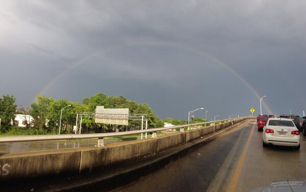 RT @chascountygov: Nearly 2 hours into the commute home, at least there is a beautiful rainbow to share #chswx pic.twitter.com/QOL7gsVBCO