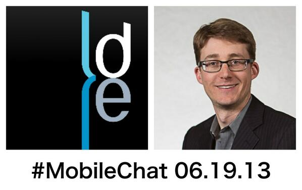 #MobileChat is LIVE. Guest tonight is avid developer and CEO of @DoubleEncore @benr75 to chat abt GoogleIO and WWDC pic.twitter.com/xru0qNPJX4